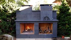 ISO′ven Wood Burning Pizza Oven combined with an Isokern Magnum Outdoor Fireplace.  Photo Credit: Marenakos Rock, Seattle, WA.