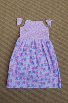 shirred fabric dress tutorial