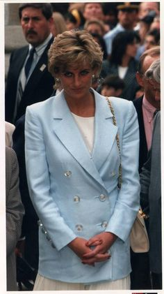 Diana Wore Suits For Most Of Her Official Duties. She Wore This Suit In Argentina.