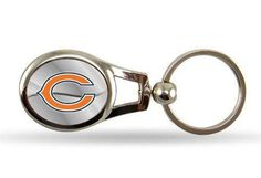 Chicago Bears Keychain NFL Oval Key Chain by Rico Industries