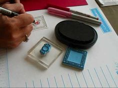 Candy Coating with Versamarker and Embossing Powder - YouTube