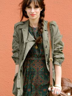 Tunic top (sold as dresses in USA) and anorak jacket and bag-like purse