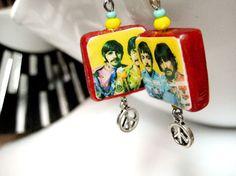 The Beatles Earrings Sgt. Pepper by MidCityMod on Etsy