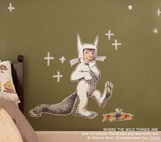 where the wild things are max decal pottery barn kids tomkatstudio. Black Bedroom Furniture Sets. Home Design Ideas