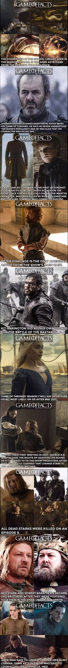 Game of thrones facts 5th and final part