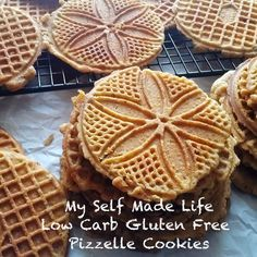 Pizzelle Cookies- Gluten Free, Low Carb
