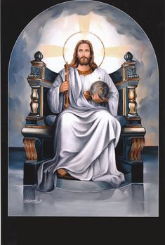 Jesus is The King of Kings Christ The King, King Jesus, Jesus Is Lord, Jesus Mercy, Jesus Help, Pictures Of Jesus Christ, Religious Pictures, Catholic Art, Religious Art