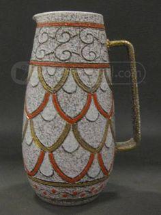 Elbee Art Pottery Mid Century Italian Pitcher