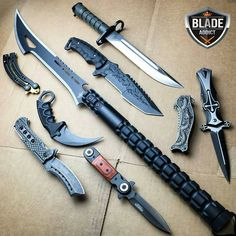 Now this is a blade addict obsession ⚔ - Double tap and comment below on which. Survival Weapons, Apocalypse Survival, Survival Gear, Armas Ninja, Ninja Weapons, Weapons Guns, Swords And Daggers, Knives And Swords, Cool Knives
