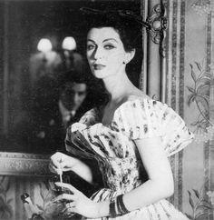 Henry Clarke, Dovima wearing Lanvin dress, 1955