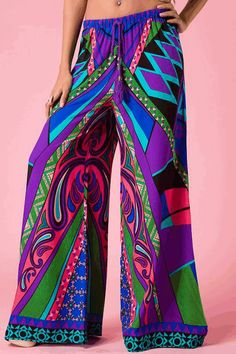 LOVE these abstract print palazzo pants <3