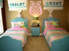 Crazy Owl Decal - Beautiful Wall Decals www.beautifulwalldecals.com This room is so cute!