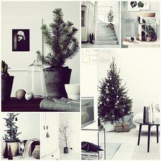 Decoración DIY para navidad de estilo rústico nórdico en blanco y negro minimalista por Ana Utrilla Diseño de Interiores @Utrillanais