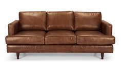 This Irvine 3 Seater Sofa features retro-proportions with thin, profile arms and comfy, deep seat.