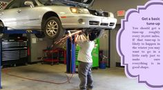 Get your car tuned up Taking your car to a mechanic and have them check the following: battery, tires, coolant/antifreeze level, exhaust system, lights, brakes, heater, and defroster. #nonstuddedtyres