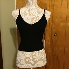 Kendall + Kylie black top Slightly cropped. Brand new with tags. I also have this top in mustard. Kendall & Kylie Tops