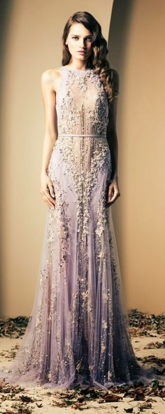 Gorgeous beaded lace maxi wedding dress fashion in radiant orchid Pantone 2014 color of the year