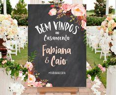 Chalkboard Casamento - Para Imprimir