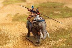Éléphant de l'armée macédonienne d'Alexandre, 4e siècle avant JC,  figurines Hät, 1/72