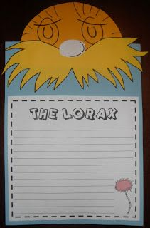 Lorax writing activity: If I had the last tree I would... I would save the trees by...