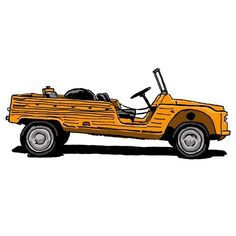 Citroën Méhari - Draws Your Car Psa Peugeot Citroen, Beach Cars, Le Pilates, Brigitte Bardot, Rc Cars, Motorhome, Hot Wheels, Cars And Motorcycles, Dream Cars