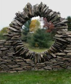 Stacked stone sculpture by Thea Summer Alvin