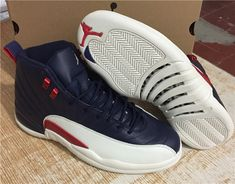 543ff391792 Air Jordan 12 Shoes Dk.Blue White 24 Jordan 12 Shoes