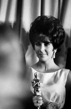 Elizabeth with her Oscar for Butterfield 8 by Grey Villet 1961