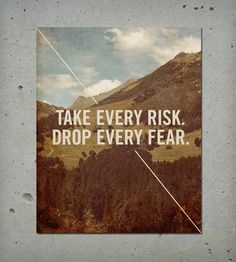 Take Every Risk Wood Block Art