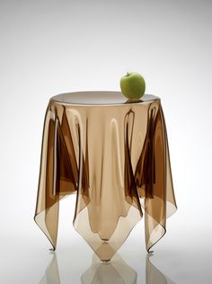 """Grand Illusion #Table by Essey - $510    Larger than its sibling, the Essey Grand #Illusion Table is one of those fascinating pieces that gets a conversation started. Made by hand so each piece is #unique , the table is composed of liquid acrylic, formed and cooled until it hardens. A """"ghostly"""" #design made in Germany. #designer #home #decor"""