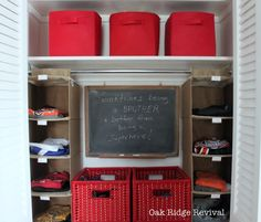 ORGANIZING CLOSETS {shared by kids}