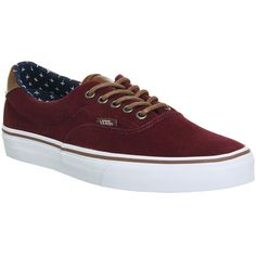 Vans Era 59 Trainers (€43) ❤ liked on Polyvore featuring men's fashion, men's shoes, men's sneakers, his trainers, shoes, trainers, windsor wine and vans mens shoes