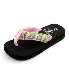 7bedc28a09a5a Look what I found on  zulily! Pink   Green Samantha Flip-Flop by