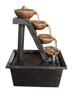 Alpine Step Polyresin 4 Tiered Tabletop Fountain & Reviews | Wayfair