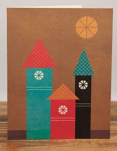 Sun Above | Red Cap Cards | Illustrated Greeting Card by Blanca Gómez #colorful #city