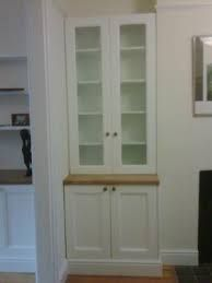 alcove cupboards, these are the ones I want! Peeling Wallpaper, Alcove Cupboards, Floating Glass Shelves, China Cabinet, Tall Cabinet Storage, Small Spaces, Summer Houses, Alcoves, Dining Room