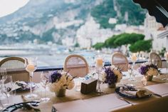 Amalfi Coast of Italy tablescape and views..