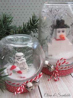 lego ornaments, lego diorama, winter scene, fun thing, snow globe, christmas trees, christmas tree ornaments, kid craft, diorama winter