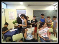 Sala de Leitura - Diretoria de Ensino de Catanduva - Município de Santa Adélia - Escola Giuseppe Formingoni.