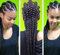 1000 ideas about corn row styles on pinterest corn rows cornrow and goddess braids - Nattes collees modeles ...