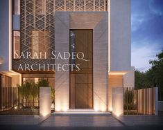 As we have been well known for creative doors and main entrance , we present a New design today , where the main entrance materials and cut… Detail Architecture, Islamic Architecture, Modern Architecture House, Commercial Architecture, Entrance Design, Main Entrance, Door Design, Modern Exterior, Interior Exterior