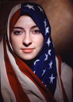 American flag as veil/hijab