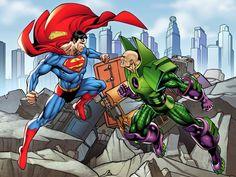 Superman vs. Lex Luthor by Jose Luis Garcia-Lopez *