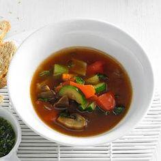 Recept - Italiaanse groentesoep met champignons - Allerhande