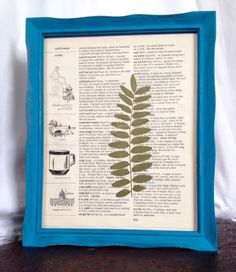 Cayman Blue Framed Fern by TheCraftedButterfly on Etsy