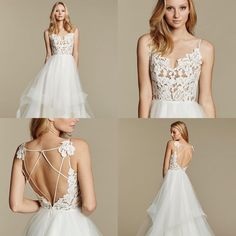 Top Spring Summer 2017 Blush By Hayley Paige Bridal Wedding Dresses Trends & Ideas Wedding Dresses 2018, Wedding Dress Trends, Bridal Dresses, Bridesmaid Dresses, Wedding Ideas, Hayley Paige Bridal, Blush By Hayley Paige, Wedding Dress Necklace, Future Mrs