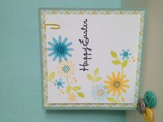Easter card using March Simon says stamp card kit. Made by- T. DelJanovan.