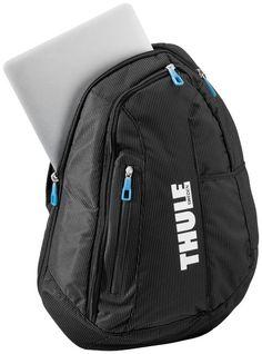 """Crossover Sling 13"""" laptop rugtas. Gewatteerd vak waar maximaal een 13"""" laptop in kan. Luchtstroom kanalen op het achterpaneel zorgen voor ventilatie."""