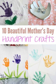 Check out this list of 10 Beautiful Mother's Day Handprint Crafts that children of all ages can make and create for the important mother figures in their lives! #mothersday #kidcraft #preschoolcraft #mothersdaycraft #diy #kidscraft #toddlercraft #handprint #handprintcraft