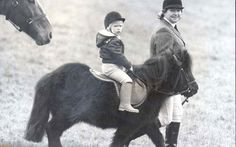 Smoky the Shetland pony was 3-year old Zara's first horse.